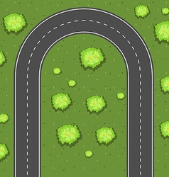 Aerial view of u-turn road vector