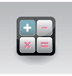 App icon calculator vector image