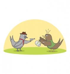 Birds robbery vector