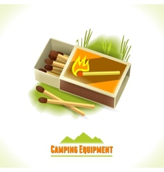 Camping symbol matches vector image vector image