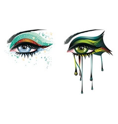 Carnival Eyes vector image vector image