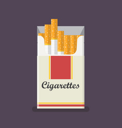 Cigarettes pack in flat style vector