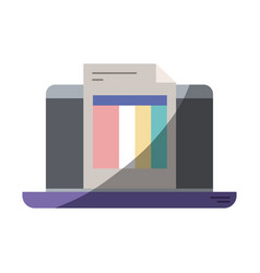 Colorful silhouette of laptop computer and billing vector