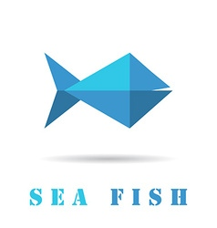 Fish geometric icon vector image vector image
