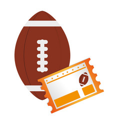 football ball and football match ticket vector image vector image