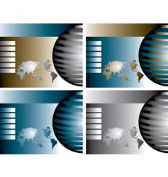 globe backgrounds vector image vector image