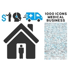House Owner Icon with 1000 Medical Business vector image