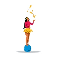 juggler girl Cartoon vector image