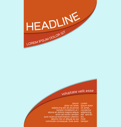 leaflet template with place for your image vector image vector image