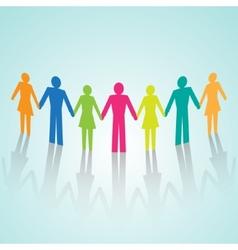 Multi-color human community pictograms vector