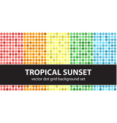 polka dot pattern set tropical sunset seamless vector image vector image