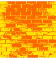 Red brick wall of the house with lines of a vector