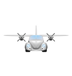 Retro flying car vector image