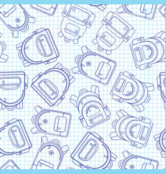 school backpack seamless background lined vector image