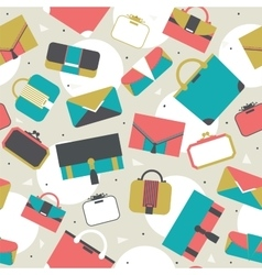 Seamless pattern fashion bags and clutches in vector image vector image
