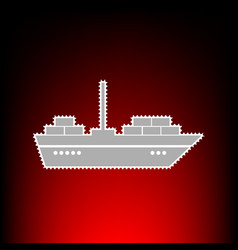 ship sign postage stamp or old photo vector image