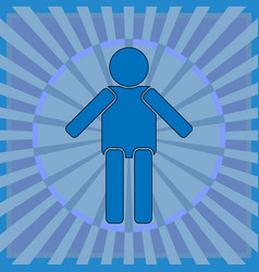 simple human figure on an abstract background vector image