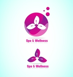 Spa and wellness relaxation flower logo vector