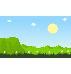 Spring of landscape nature collection vector