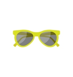 Sun glasses in a flat style holidays and tourism vector