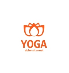 template logo for yoga studios vector image