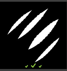 Trail of claws it is white icon vector