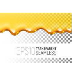 Transparent seamless dripping honey on vector