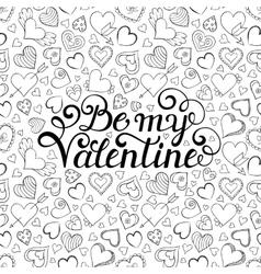 Valentines seamless pattern vector