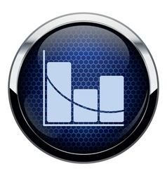 Blue honeycomb stat icon vector