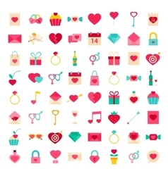 Big set valentines day objects vector