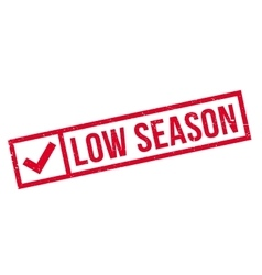 Low season rubber stamp vector