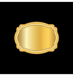 Gold frame beautiful simple golden design white vector