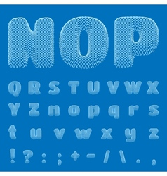 Blueprint alphabet eps10 vector