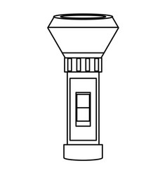 Flashlight electronic device vector