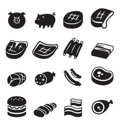 Pork icon vector
