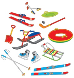 Objects for winter leisure vector