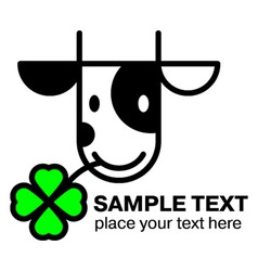 Cartoon cow head icon vector image