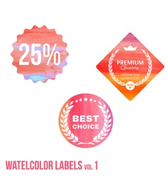Set of watercolor shopping icon in eps vector