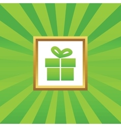 Gift picture icon vector