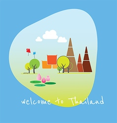 Travel thailand vector