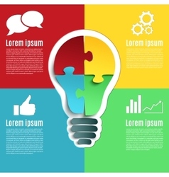 Bright idea creative conceptual infographics vector