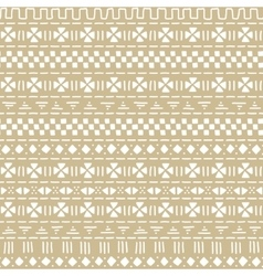 Beige and white mudcloth african ethnic geometric vector