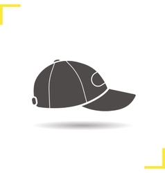 Baseball cap icon vector