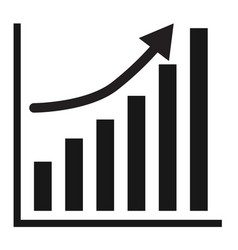 Business graph growth progress black arrow vector