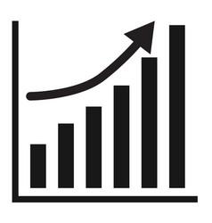 business graph growth progress black arrow vector image