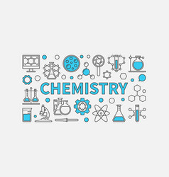 chemistry creative modern background vector image vector image