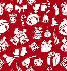 doodle christmas element pattern vector image