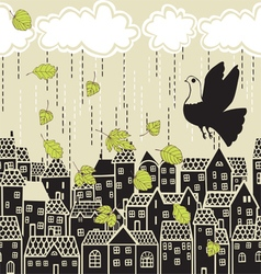 fall over the city vector image