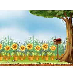 Garden Mailbox vector image vector image