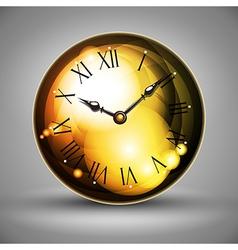 golden clocks vector image vector image
